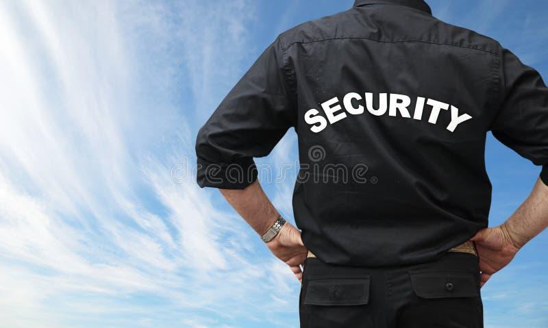 mansäkerhet royaltyfri bild