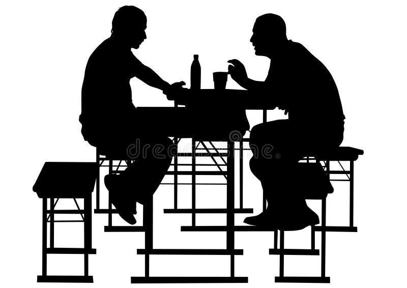Mans in cafe