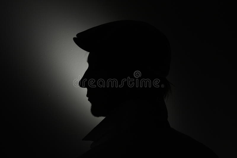 Download Mans Face Silhouette. Stock Photo - Image: 9741500