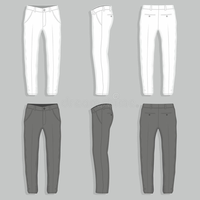 Mans fashion trousers stock illustration
