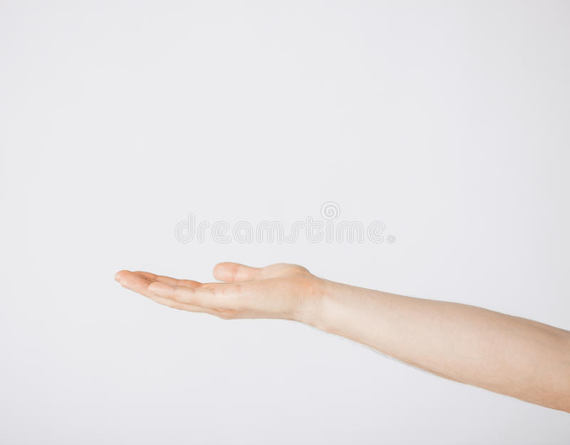 Download Mans Hand Showing Something Royalty Free Stock Images - Image: 38098689