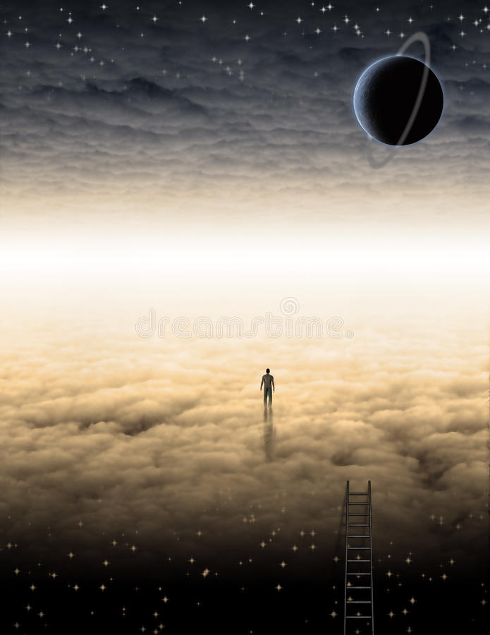 Download Mans Journey of the Soul stock illustration. Illustration of peace - 21109182