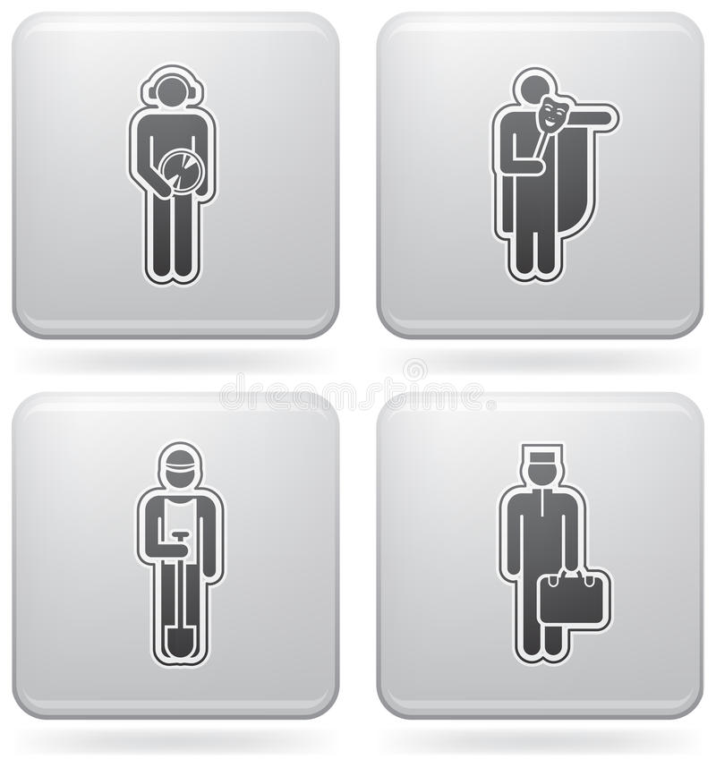 Download Mans Occupation Set Stock Images - Image: 15370174