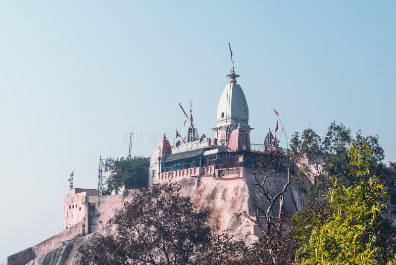 Mansa Devi Temple is een Hindoese tempel stock afbeeldingen