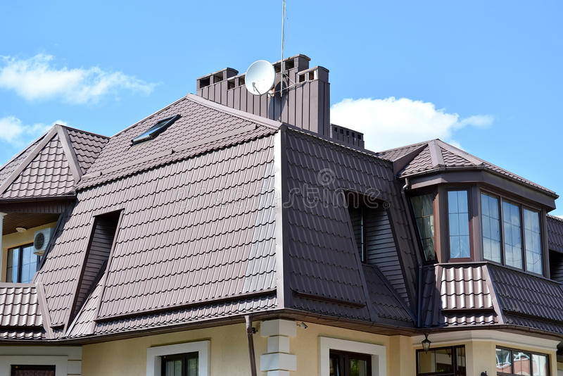Mansard Floor Of A Mansion With A Roof From A Metal Tile