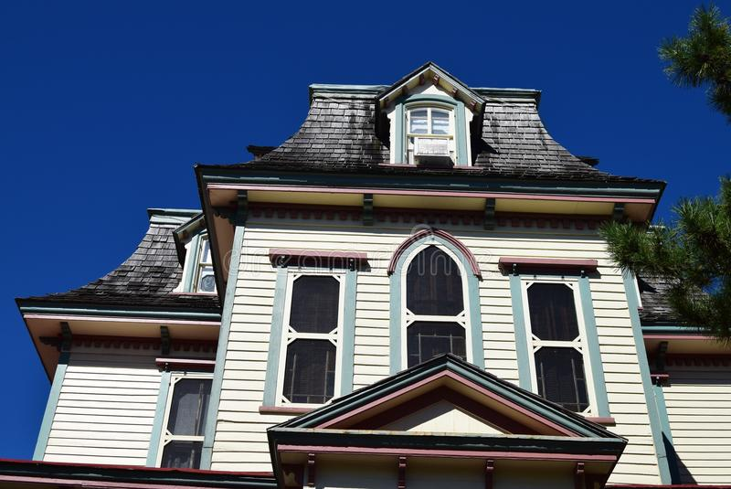 Mansard Style Roof On House In Cape May New Jersey Stock