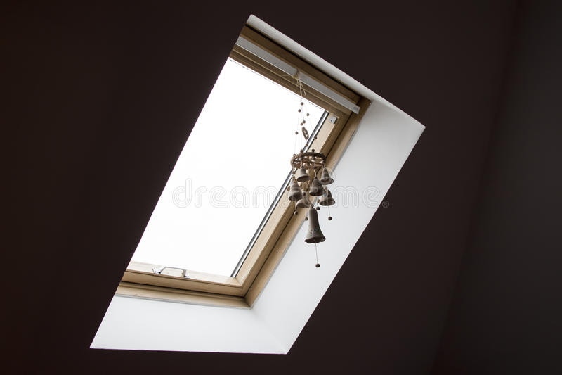 Mansard window stock photography