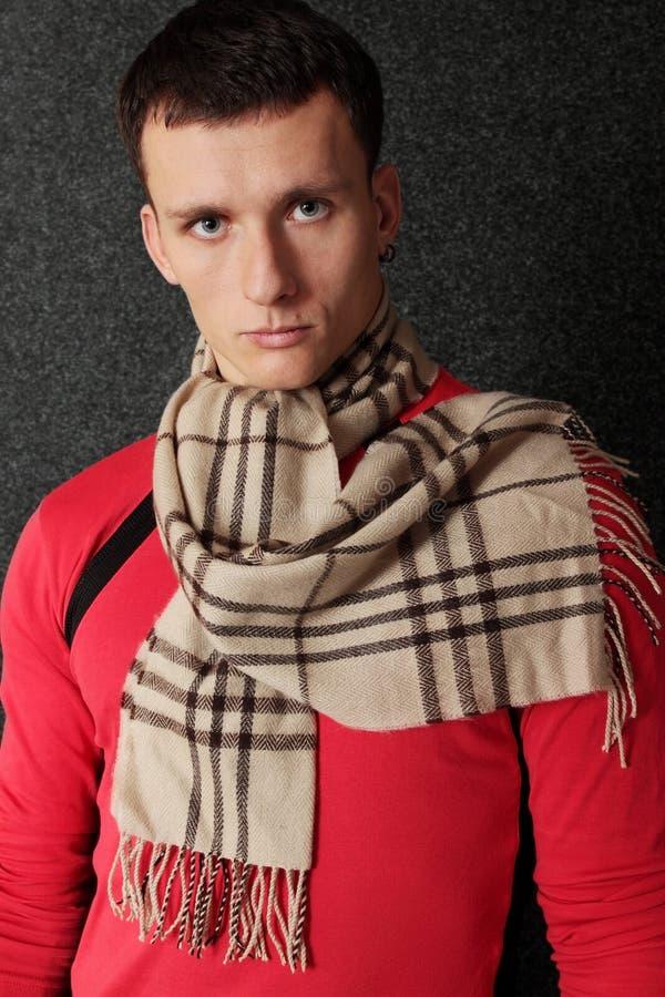manscarf fotografering för bildbyråer