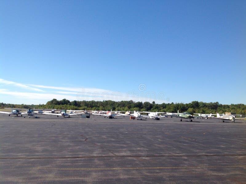 Mansfield flygplats arkivfoto