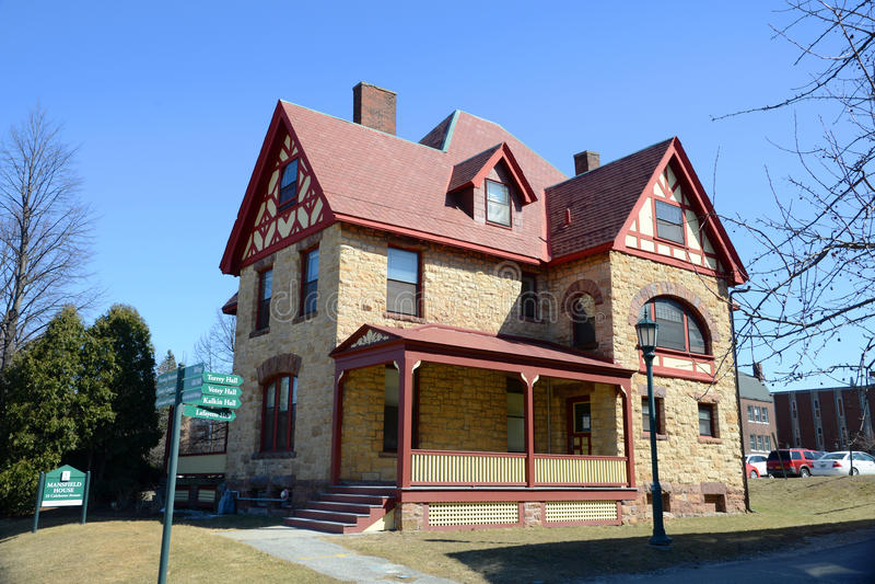 Mansfield hus, universitet av Vermont, Burlington, USA royaltyfria foton