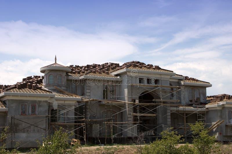 Mansión Bajo Construcción Imagen de archivo libre de regalías