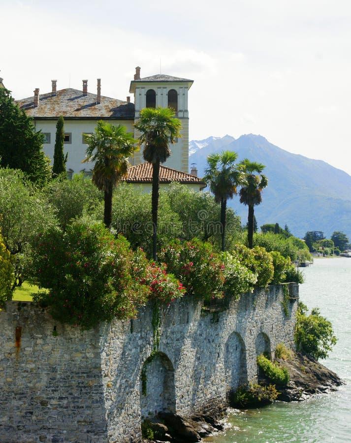 Mansión de Como del lago fotos de archivo libres de regalías
