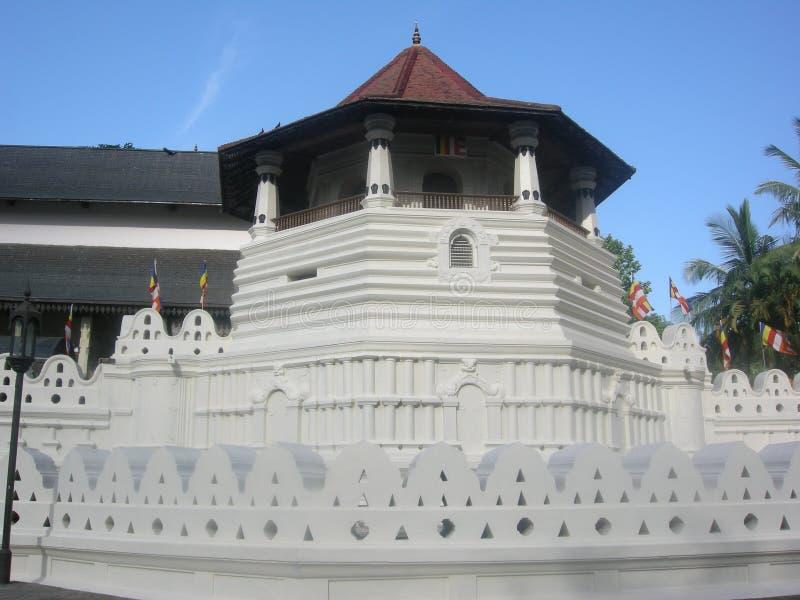 Mansión de Dalada de kandy en Sri Lanka foto de archivo libre de regalías
