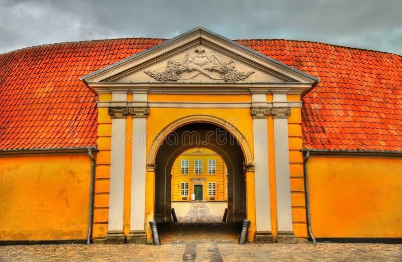 Mansión real anterior, ahora Art Museum contemporáneo en Roskilde, Dinamarca imagenes de archivo