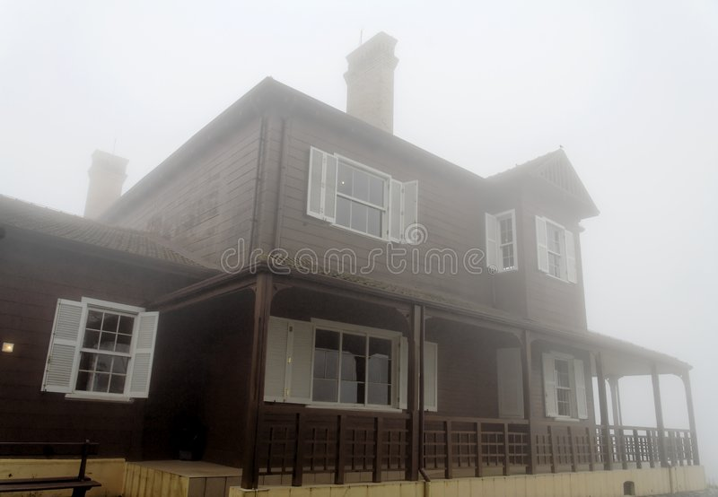 Mansion in the Fog royalty free stock photography