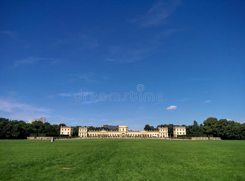 Mansion in Karlsaue Park, Kassel, Germany stock image