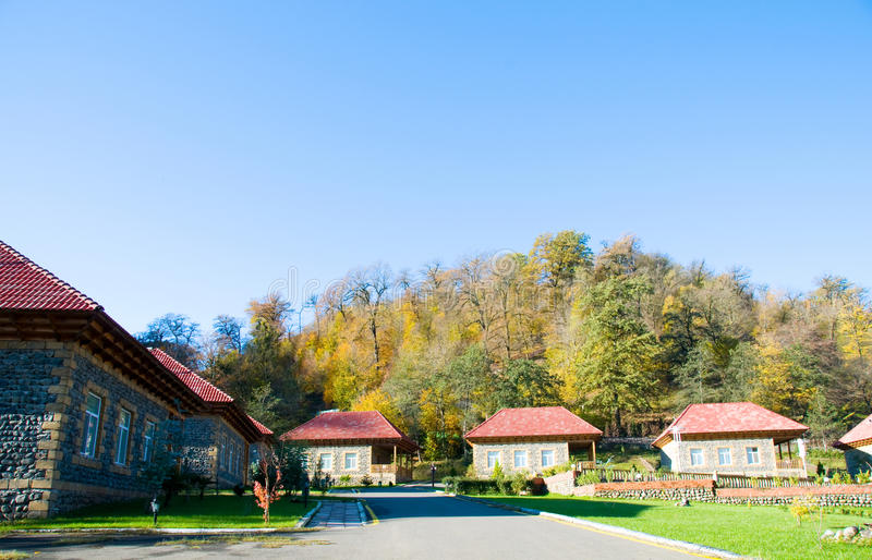 Download Mansion In The Middle Of Mountain Stock Photo - Image: 13335036