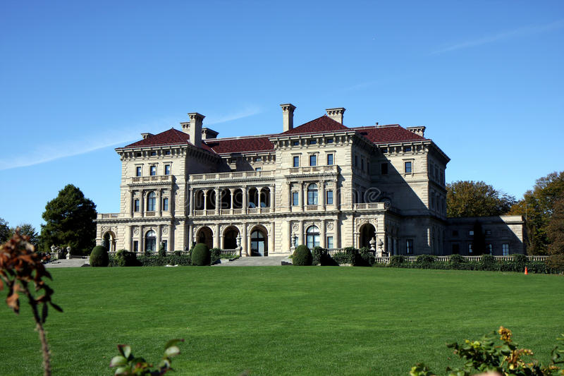 Mansion in Newport, Rhode Island royalty free stock photos