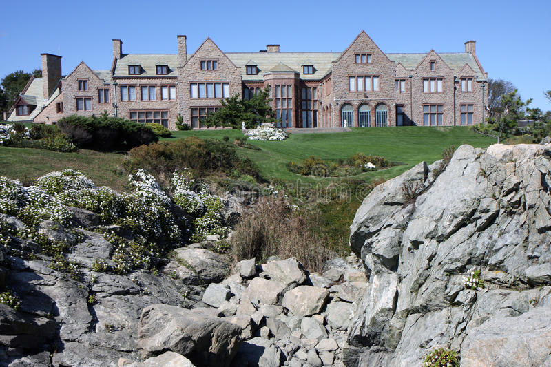 Mansion in Newport, Rhode Island royalty free stock photography