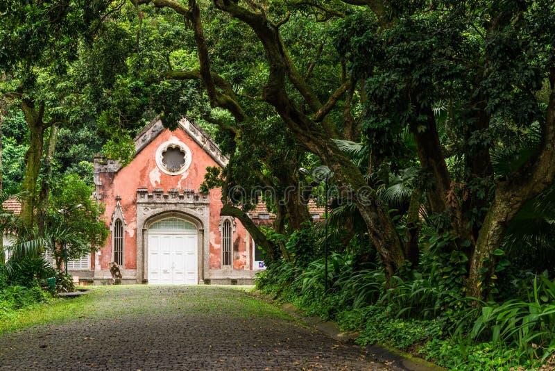 Mansion in Parque Lage in Jardim Botanico neighborhood of Rio de Janeiro. stock photo