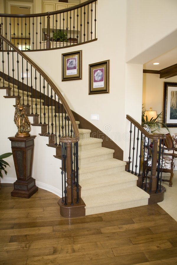 Mansion staircase stock image