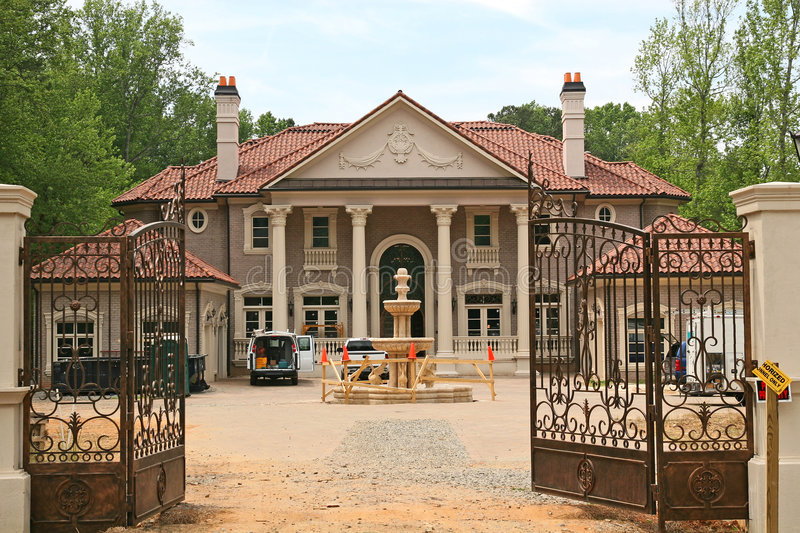 Mansion Under Construction royalty free stock image