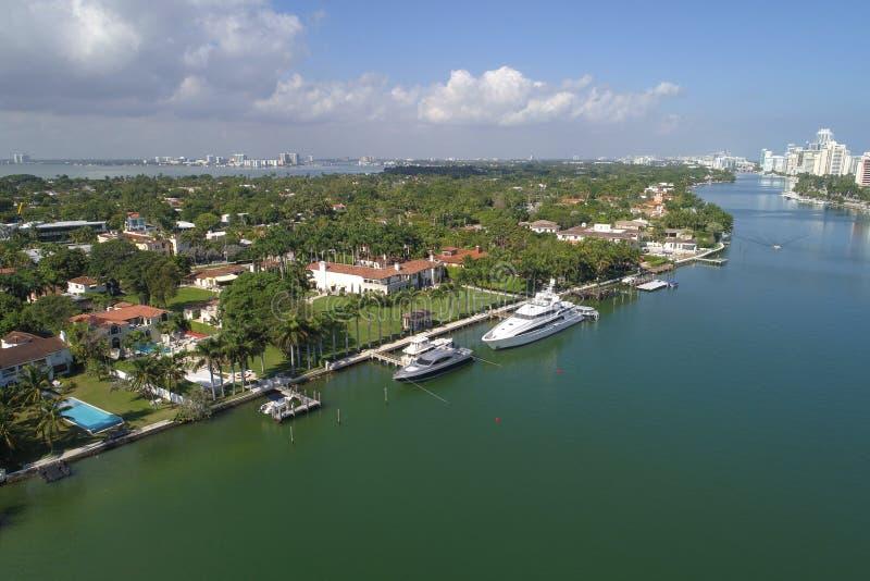 Mansiones de lujo en Miami foto de archivo libre de regalías