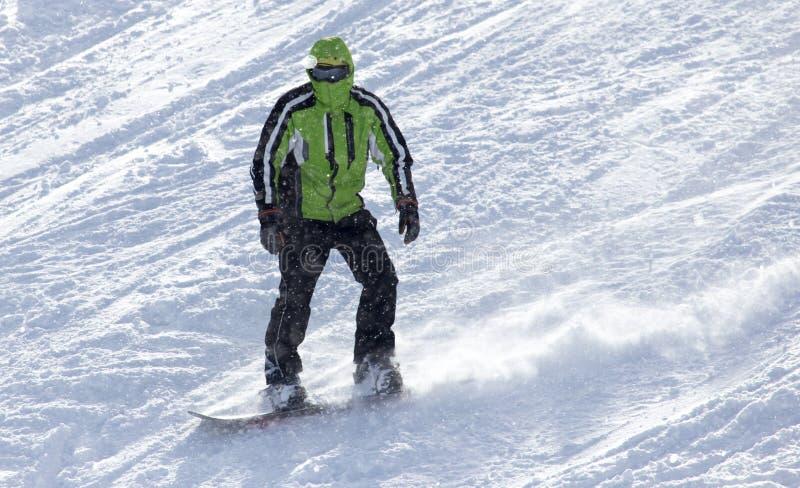 Download Mansnowboarding i vintern arkivfoto. Bild av hastighet - 106831384
