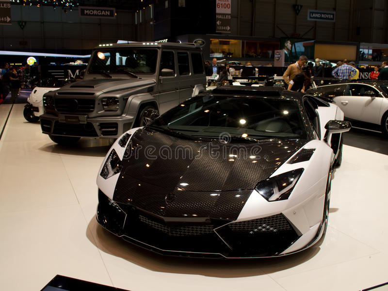 Mansory Aventador Carbonado GT Geneva 2014 royalty free stock image