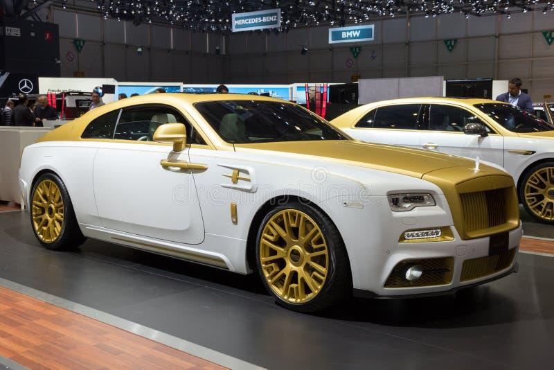 Mansory Rolls Royce vålnad arkivfoton