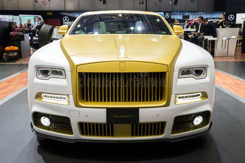 Mansory Rolls Royce Wraith wydania 999 luksusu Palmowy samochód obrazy royalty free