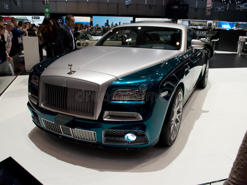 Mansory Wraith Geneva 2014 royalty free stock photo