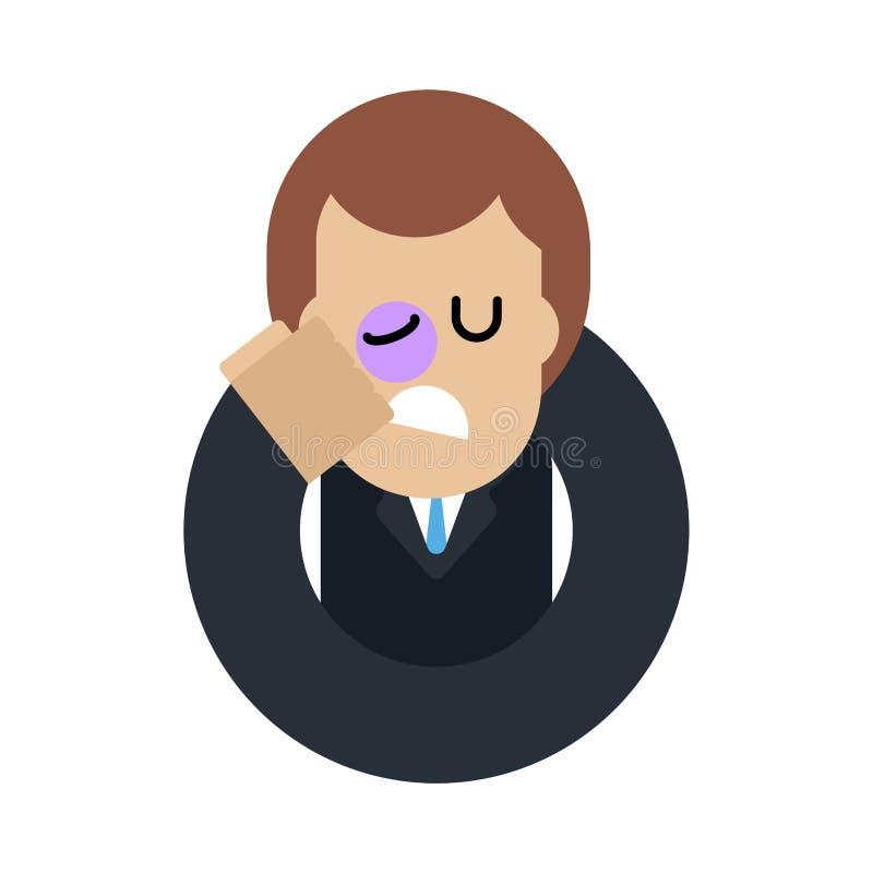 Manstryk själv med näven i framsida Bestraffning av dig V vektor illustrationer