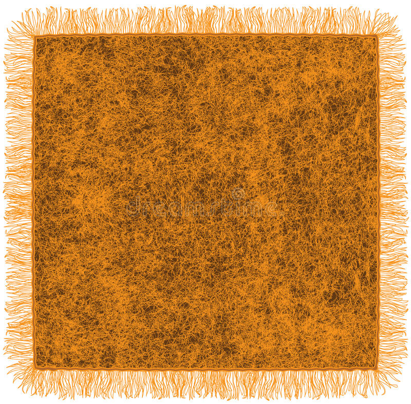 Manta anaranjada de lana con la franja libre illustration