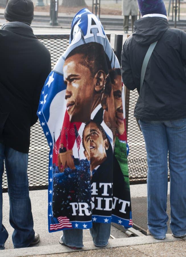 Manta de Obama imagen de archivo