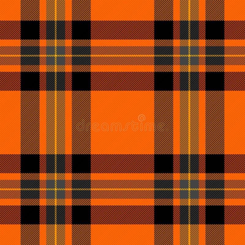 Manta de tartã de Dia das Bruxas Gaiola do Scottish do teste padrão ilustração stock