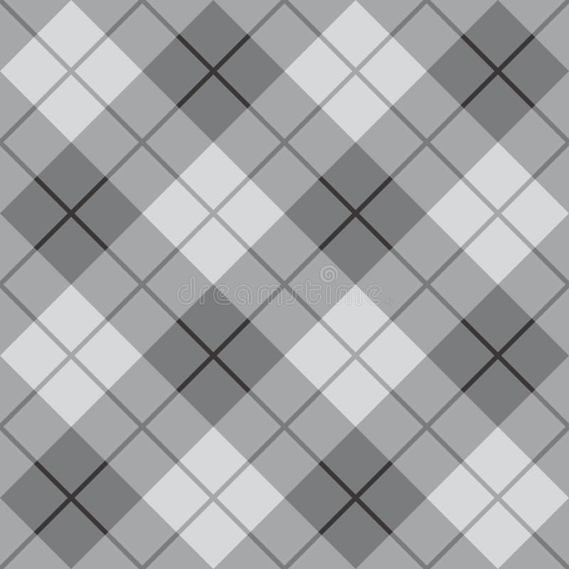 Manta diagonal no cinza ilustração royalty free
