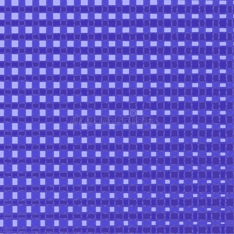 Manta do Natal e de tart? do ano novo Teste padrão escocês no azul e na gaiola Gaiola escocesa Fundo quadrado Textura da tela M?o ilustração stock