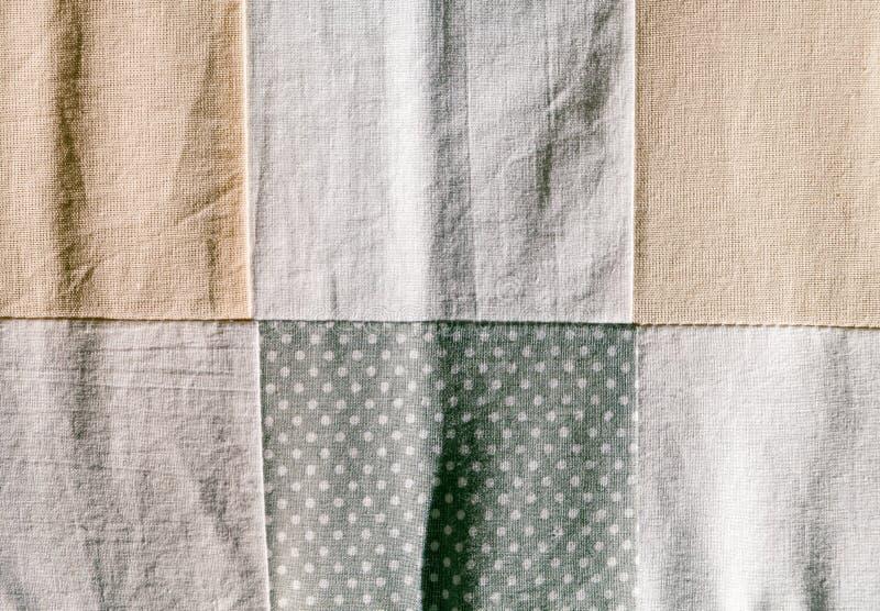 Manta dos retalhos do close-up foto de stock royalty free