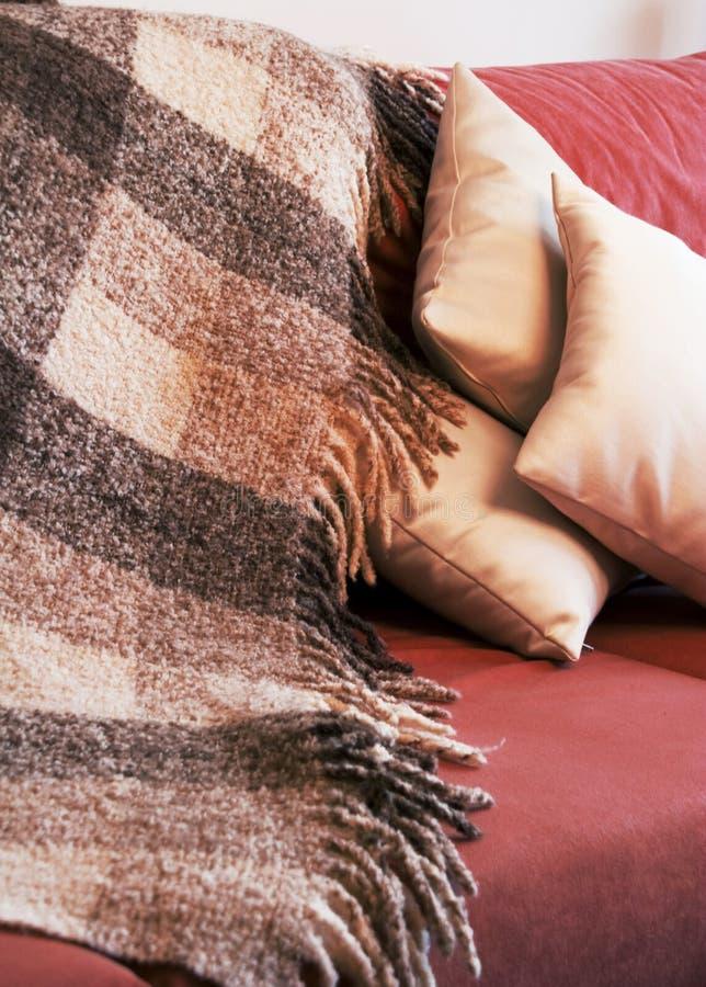 Manta e descansos de lã foto de stock royalty free