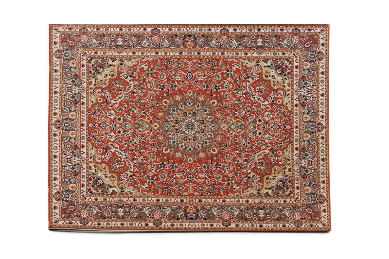 Manta persa aislada en el fondo blanco foto de archivo libre de regalías