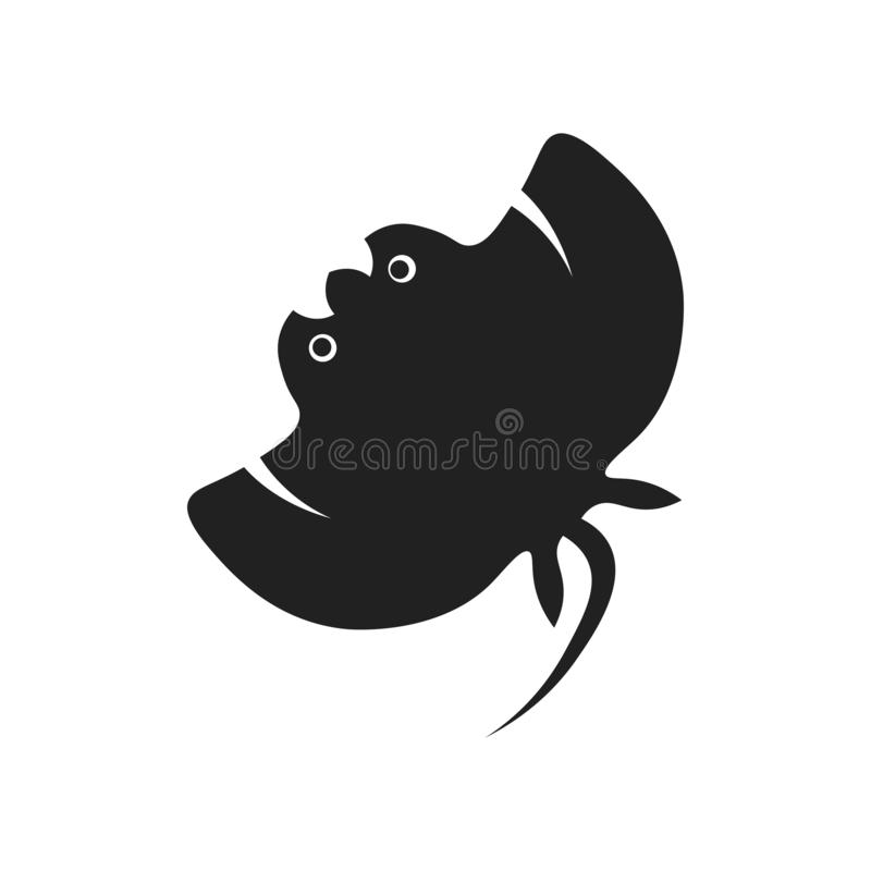Manta ray icon vector sign and symbol isolated on white background, Manta ray logo concept stock illustration