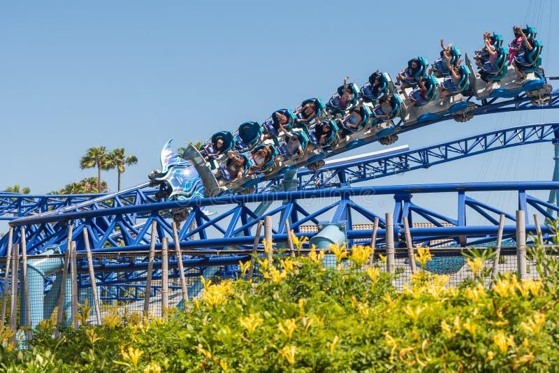 Manta Ray Roller Coaster Ride chez Seaworld San Diego la Californie du sud Etats-Unis photo stock