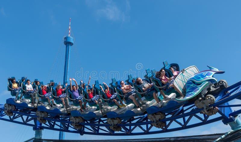 Manta Ray Roller Coaster Ride chez Seaworld San Diego la Californie du sud Etats-Unis photo libre de droits