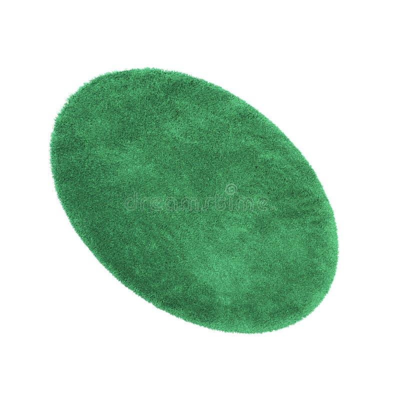 Manta verde del baño aislada en blanco fotografía de archivo