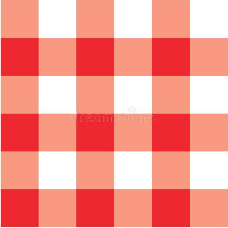Manta vermelha de pano de tabela do piquenique ilustração do vetor