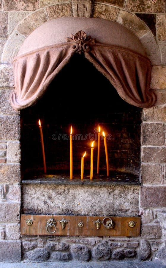 Mantamados蜡烛 免版税库存图片