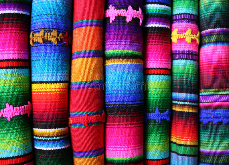 Mantas coloridas fotografía de archivo libre de regalías