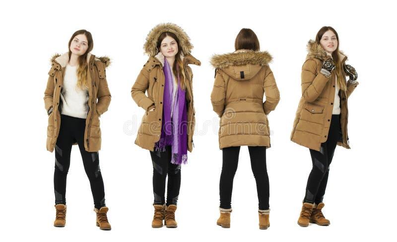 Manteau blond d'automne de robe de femme photos libres de droits