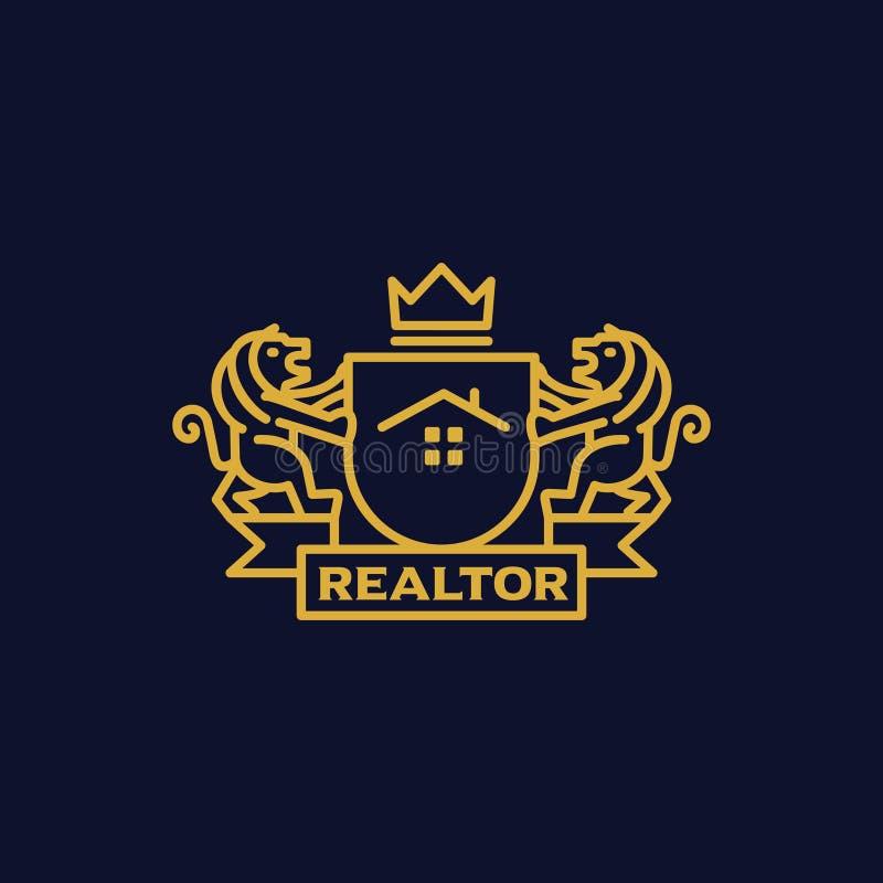 Manteau d'agent immobilier de bras illustration de vecteur